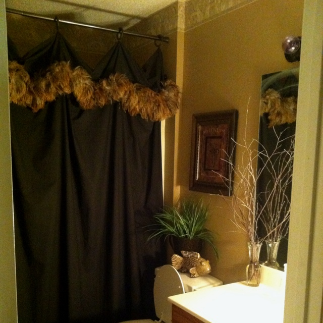 Queen Flat Sheet Ceiling To Floor Shower Curtain With Feathers Homemade For The Home