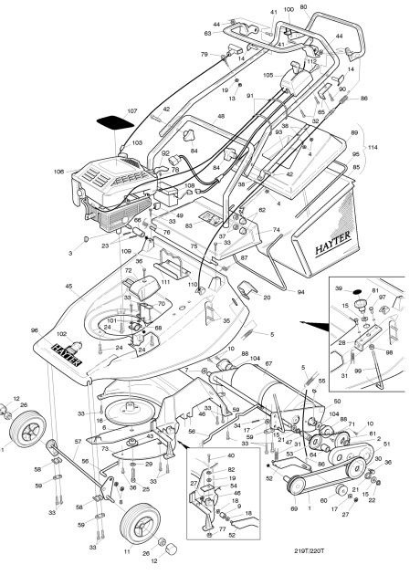 Hayter Harrier 48 220T12041 SPARES ORDERING DIAGRAMS (With