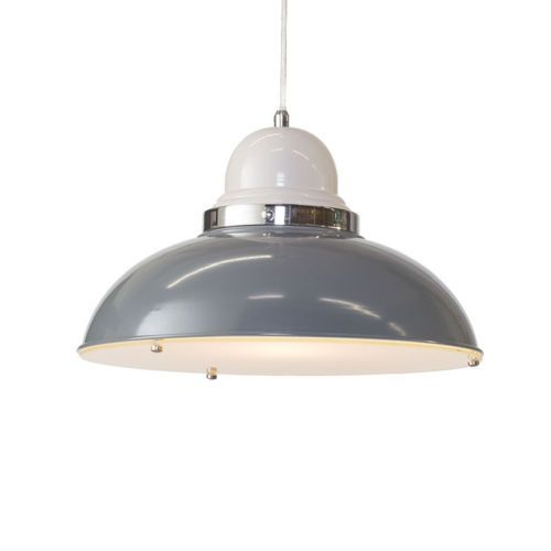 Litecraft Clearance Brooker 1 Light Grey Ceiling Pendant
