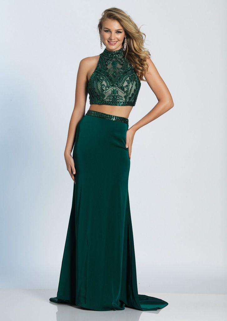 Emerald Prom dress 2 Piece