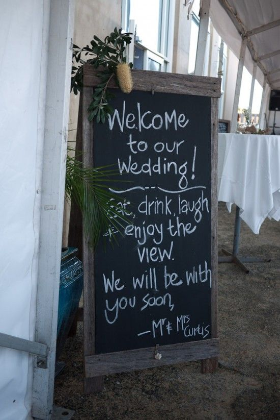 Great idea- leave message for guests at reception while picture taking is going on