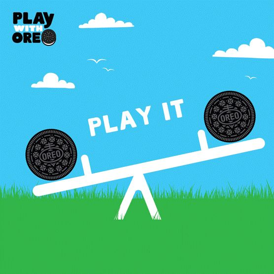 Find your life's balance with an Oreo. #PlayIt #PlaywithOreo