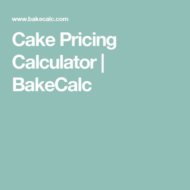 Cake Pricing Calculator | BakeCalc