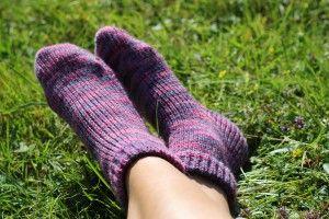 Oppskrift på sokker til dame på en Silver Reed LK150 strikkemaskin