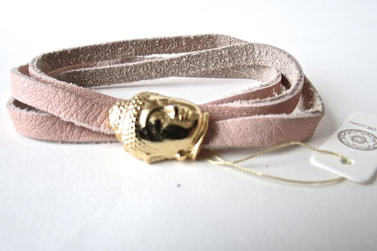 raj108 leather bracelet  budda buddahead kundalini yoga yogic grace your universe lifestyle golden jewellery dusty pink vintage pink soft leather