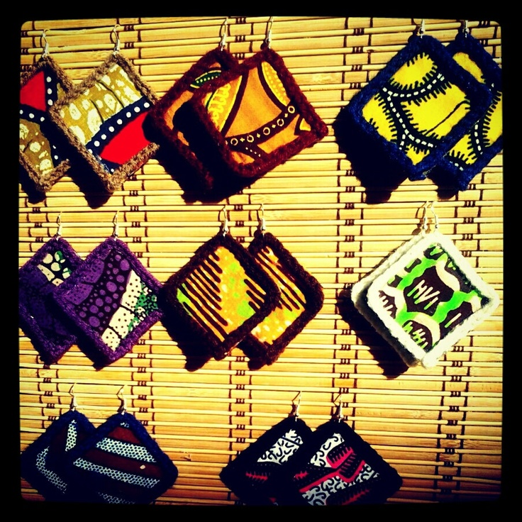 Urban African Crochet Fabric Earrings Pick Your by UrbanVibeInc, $9.00