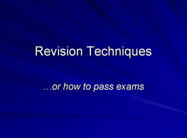 Revision techniques for essay exams