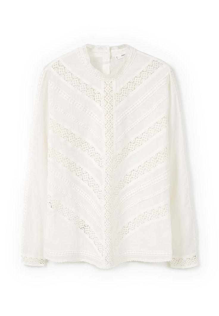Блуза Mango - MESH купить за 3 499руб MA002EWLNF80 в интернет-магазине Lamoda.ru