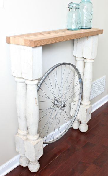 DIY the perfect foyer table for even the narrowest and shallowest of spaces.