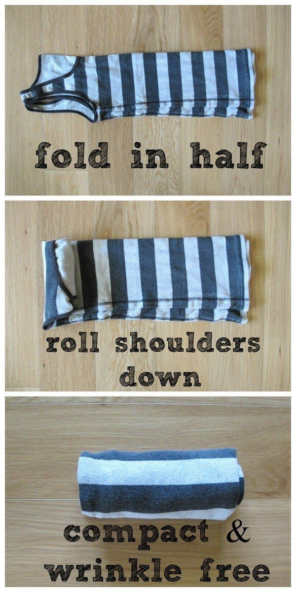 And roll the rest of your clothes so they take up less space. | 21 Clever Packing Tricks That Will Make Your Trip So Much Easier