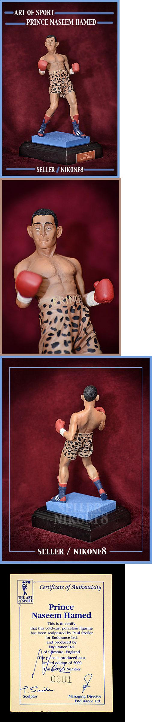Boxing 1227: Art Of Sport Prince Naseem Hamed Cold Cast Porcelain Figurine New In Box Rare -> BUY IT NOW ONLY: $209.95 on eBay!