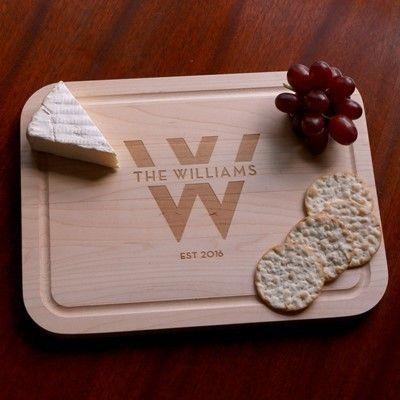 Monogrammed Wood Cutting Board