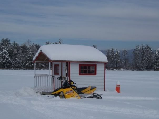 For his designs he uses a series of in house yo vip let for Ice fishing hut