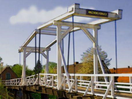 'Hogendiekbrücke Altes Land' von Dirk h. Wendt bei artflakes.com als Poster oder Kunstdruck $22.17