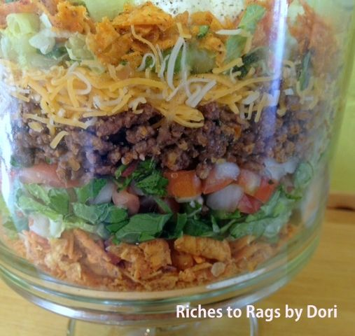 *Riches to Rags* by Dori: Doritos Layered Taco Salad with Taco Ranch Dressing