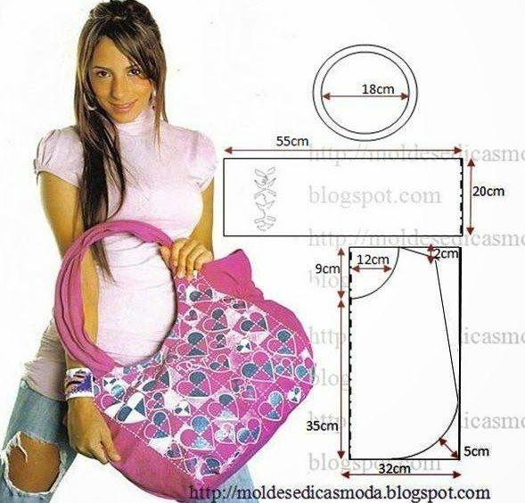 Materiales gráficos Gaby: Bolsón de tela costura y molde