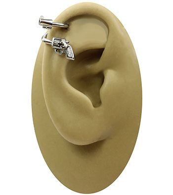 Revolver Gun Spiral Barbell-Stainless Steel Cartilage Earring-Tragus Earring Body Jewelry-14g at http://www.body-jewelry-shop.com/Revolver-Gun-Spiral-Barbell-Stainless-Steel-Cartilage-Earring-Tragus-Earring-Body-Jewelry-14g.html