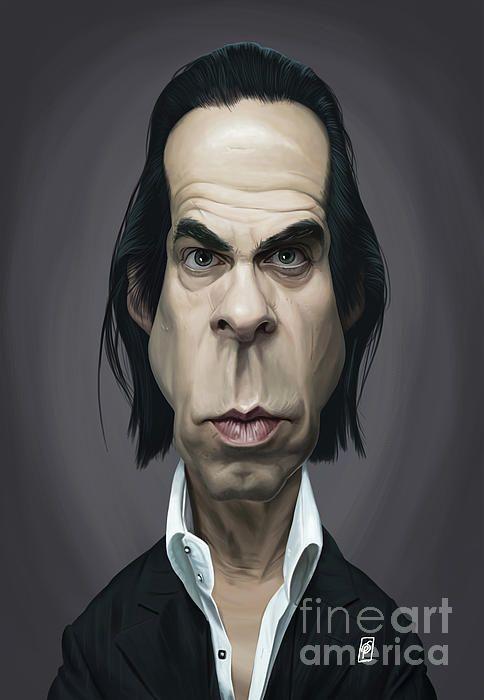 Nick Cave art | decor | wall art | inspiration | caricature | home decor | idea | humor | gifts