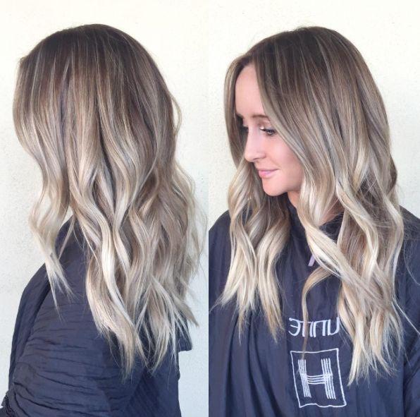 dark ash blonde with blended dark roots hairbybrittanyy
