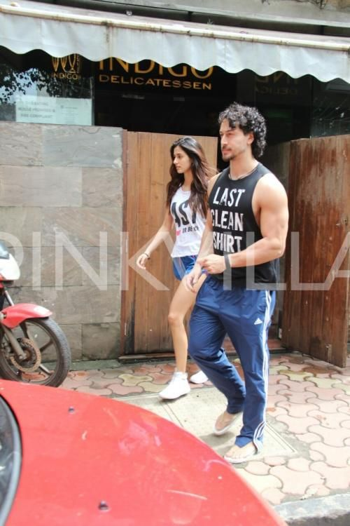 Photos: Tiger Shroff takes girlfriend Disha Patani on a lunch date