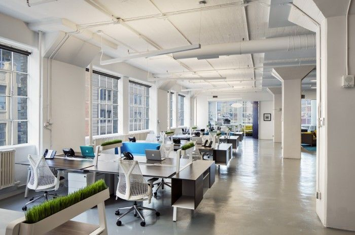 From Office Snapshot, Now What New York office outfitted with Herman Miller SAYL Chairs.
