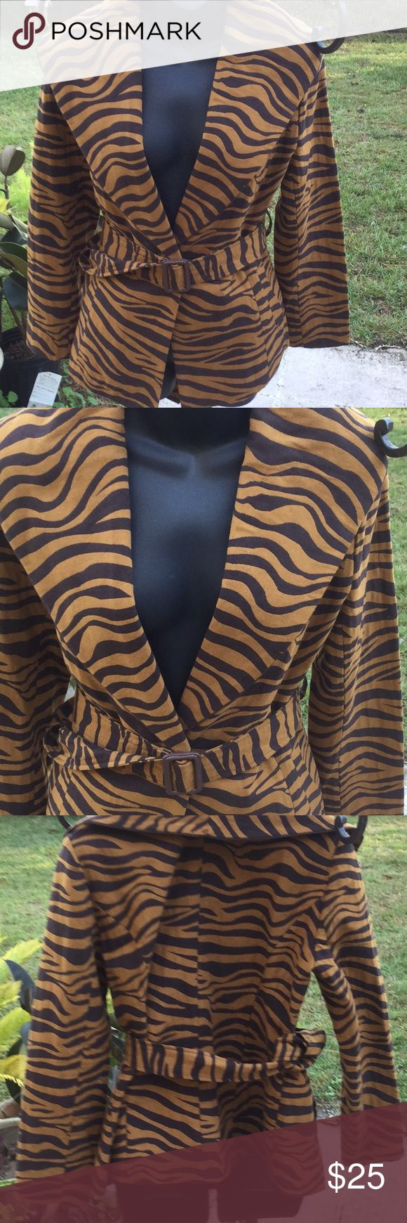 NWT Outrageous Sz Med Leopard Jacket 🐆 🐆You Gotta Have This NWT Brand New Never Worn Size Med Clara S Leopard Button 🐆Up Jacket / Blazer Wrap Around Belt / 2 Pockets 🐆 Measures 28 inches From Shoulder to Hem of Jacket 🐆Perfect Addition to Your Wardrobe 🐆Remember Leopard is Timeless 🐆I Live in Smoke Free Home 🐆Thanks For Looking 🐆Bye Bye Clara S Jackets & Coats Blazers