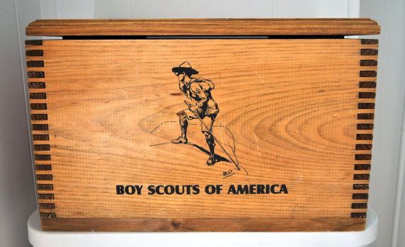 Wooden Boy Scouts Keepsake Box By Bldingcastles On Etsy