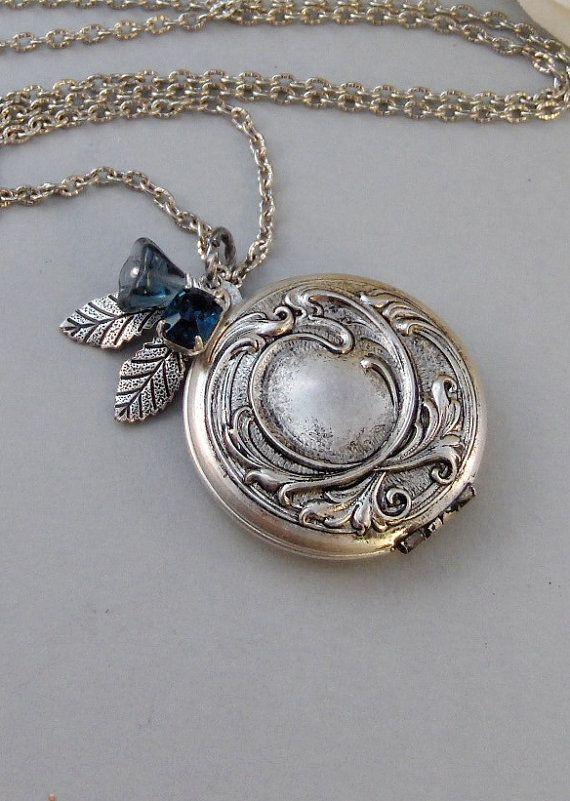 Maiden zafiro, collar de zafiro, zafiro Vintage, Vintage medallón, medallón de…