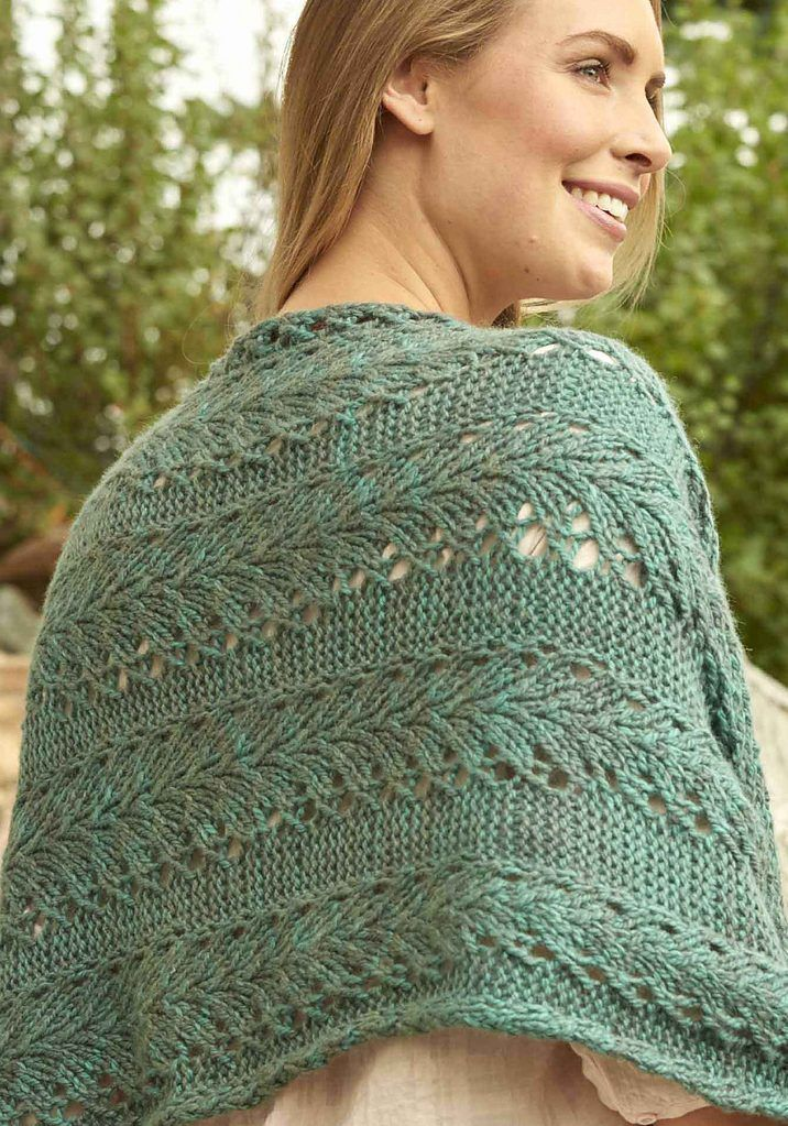 Ivy Lace Knitting Pattern : Knitting Pattern for Nonotuck Wrap - Bristol Ivy s generous shawl uses Vine L...