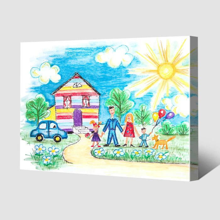 Children's Drawings on Canvas Prints