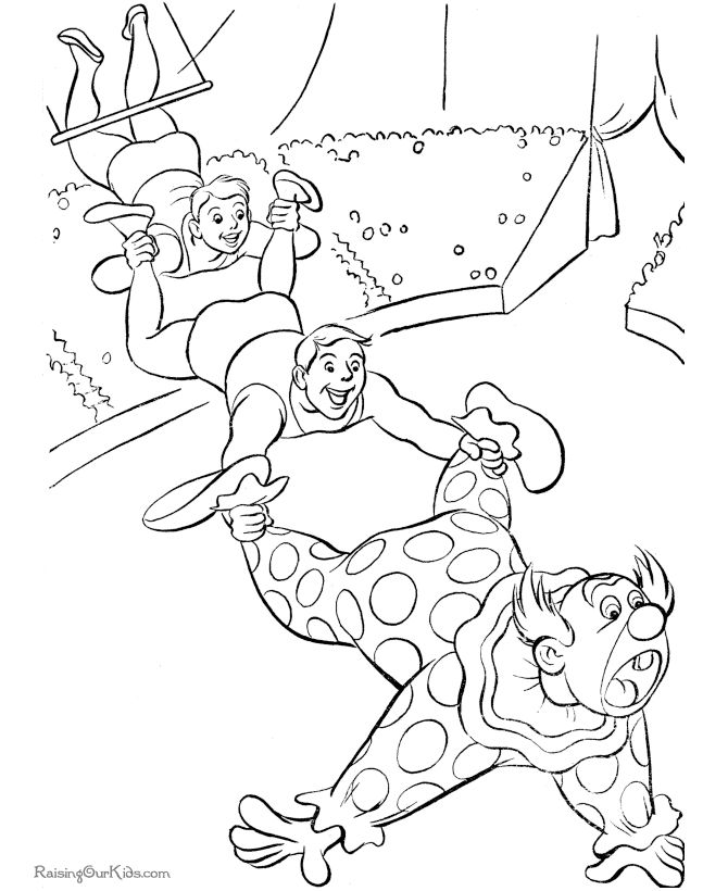 coloring pages of circus - photo#16