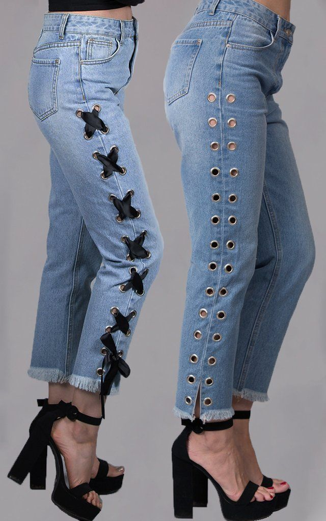 Pin By Boop Beep On Clothing Styles Diy Lace Jeans Diy Pants Embellished Jeans