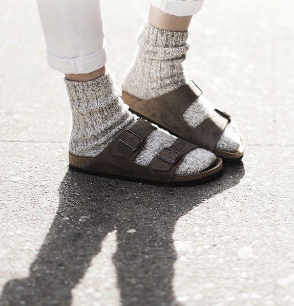 Birkenstocks & cozy socks