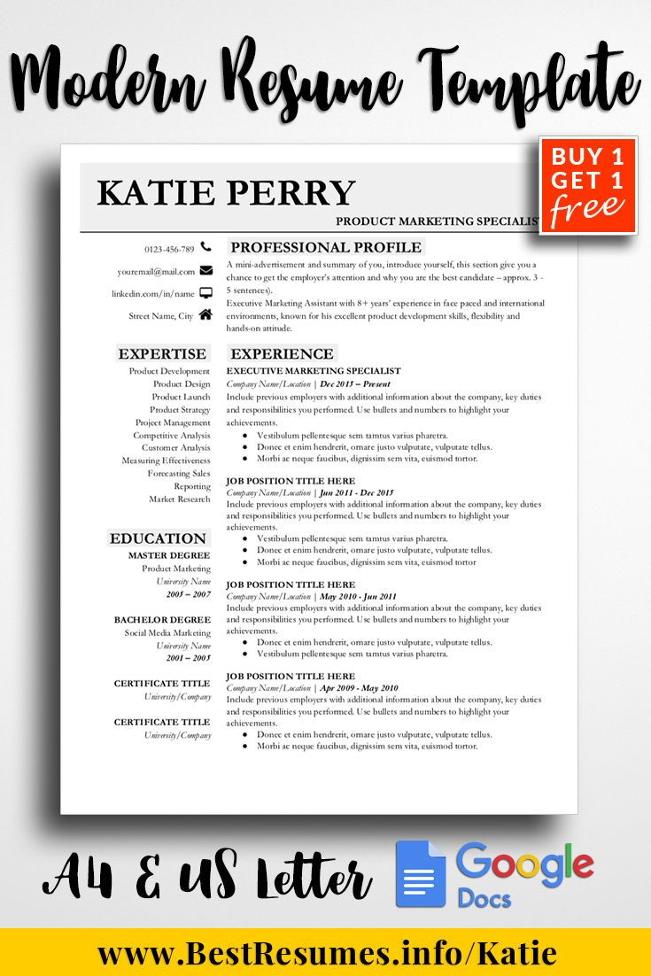 Professional Resume Template Katie Perry Teacher Resume Template