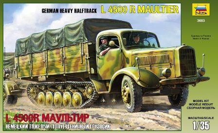 German Heavy Half-Track L4500R Maultier – Zvezda 3603