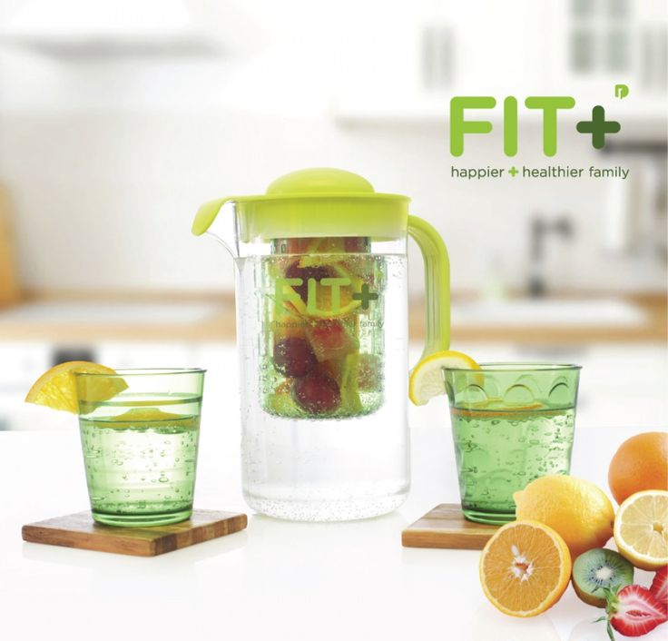 Fit + Infuser Jug Hijau - Happier & Healthier Family