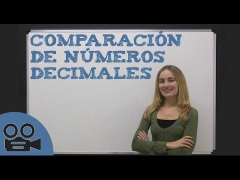 Comparar números decimales - YouTube
