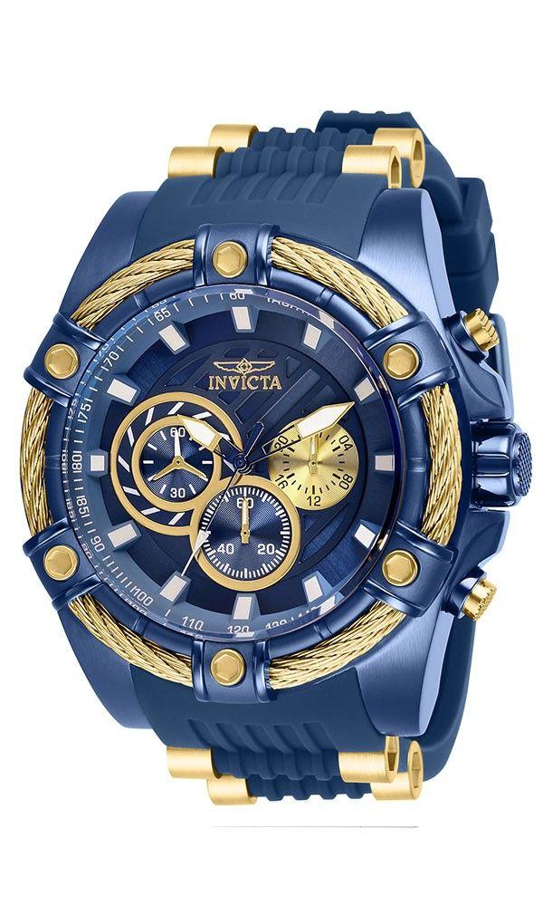 cf20585ba Invicta Bolt Mens Quartz 52 mm Blue Case Blue, Gold Dial - Model 28019