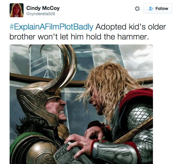 "21 Of The Funniest Tweets From The ""Explain A Film Plot Badly"" Hashtag"