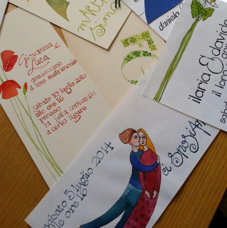 Biglietti personalizzati #invito #matrimonio #eventi #decorazioni #scenografie
