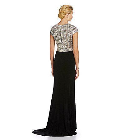 Terani Couture BeadedBodice Gown #Dillards