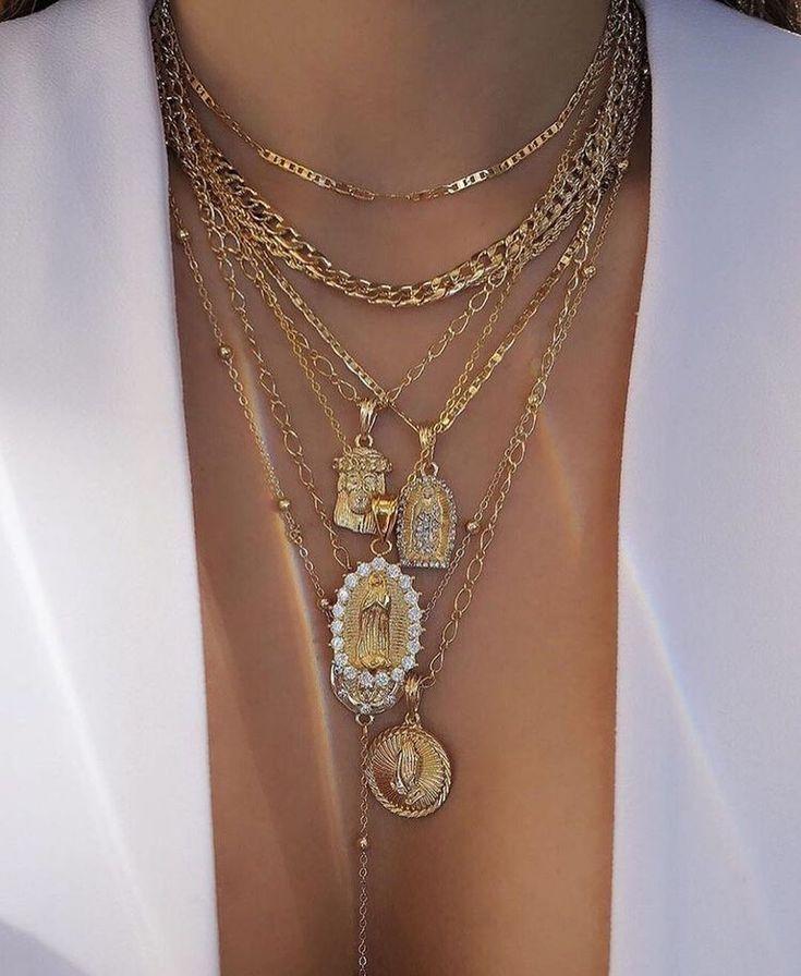 Halskette Damen Statement Perlen Schmuck Kette 4 Modelle TOP Qualität Günstig