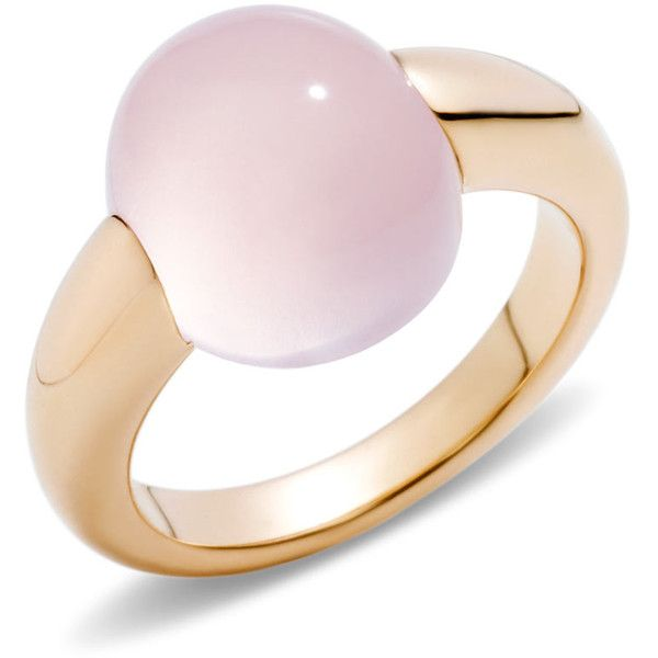 Pomellato Ring Luna (47.999.320 VND) ❤ liked on Polyvore featuring jewelry, rings, pink, pomellato, pink jewelry, pink ring, pomellato jewelry and pomellato rings