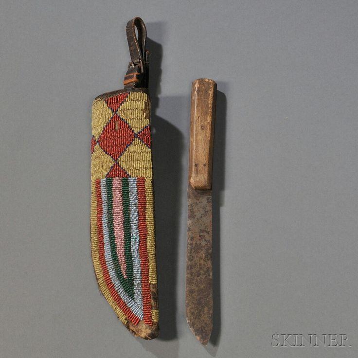 Lakota knife sheath, c.19th century.