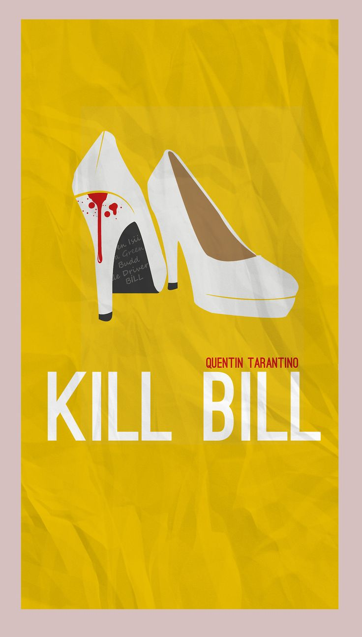Kill Bill minimalist poster