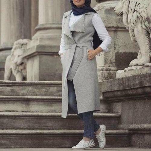 Neutral winter hijab outwears – Just Trendy Girls