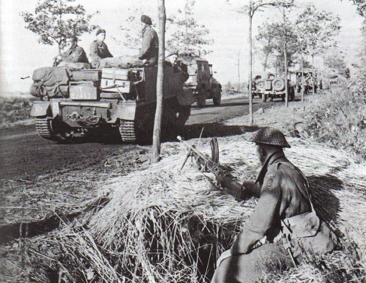 The Polish 1st Armored Division moves through Holland in 1945. (Sikorski Institute) - pin by Paolo Marzioli
