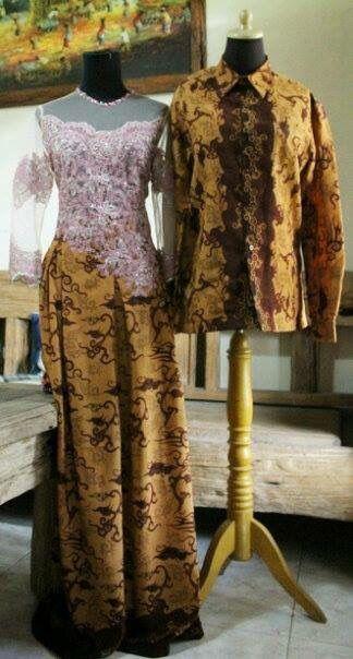 Couple kondangan #batik#brokat#batikkombinasi