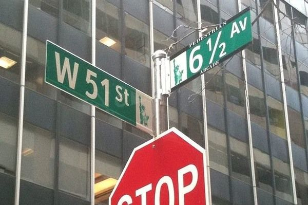 Tucked away amidst some of the most famous addresses in the world is New York's only fraction of a street