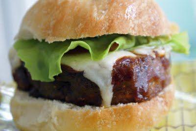 Grilled Meatloaf Burgers (great idea for leftover meatloaf)